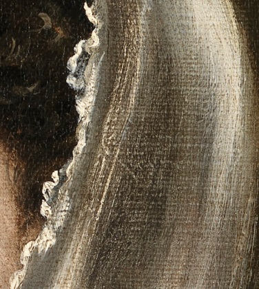 Fig. A1 Lady in a Fur Wrap, detail of veil, Glasgow Museums PC18. © CSG CIC Glasgow Museums Collection